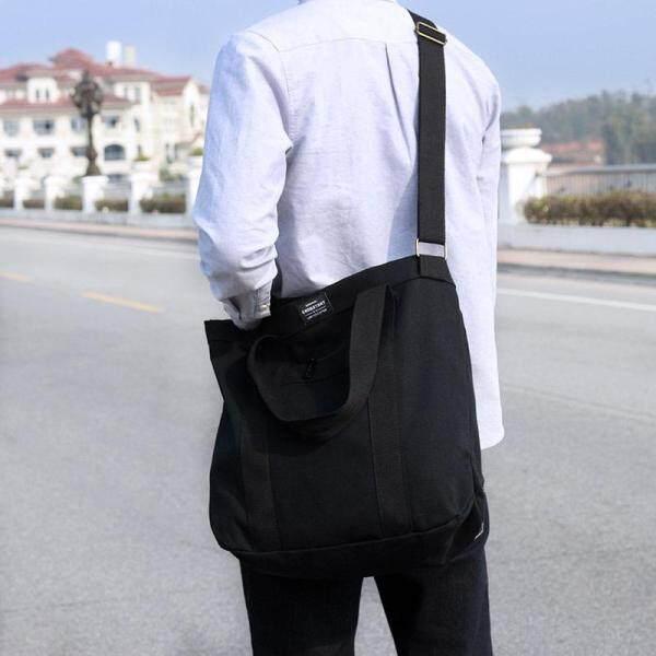 SIMPLE Korean Men Women Casual Shoulder Messenger Bag Tote Canvas Bag