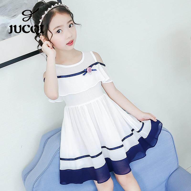 Giá bán Jucqi Trẻ Em Mới Của Voan Bé Gái Sinh Viên Mùa Hè Váy Công Chúa
