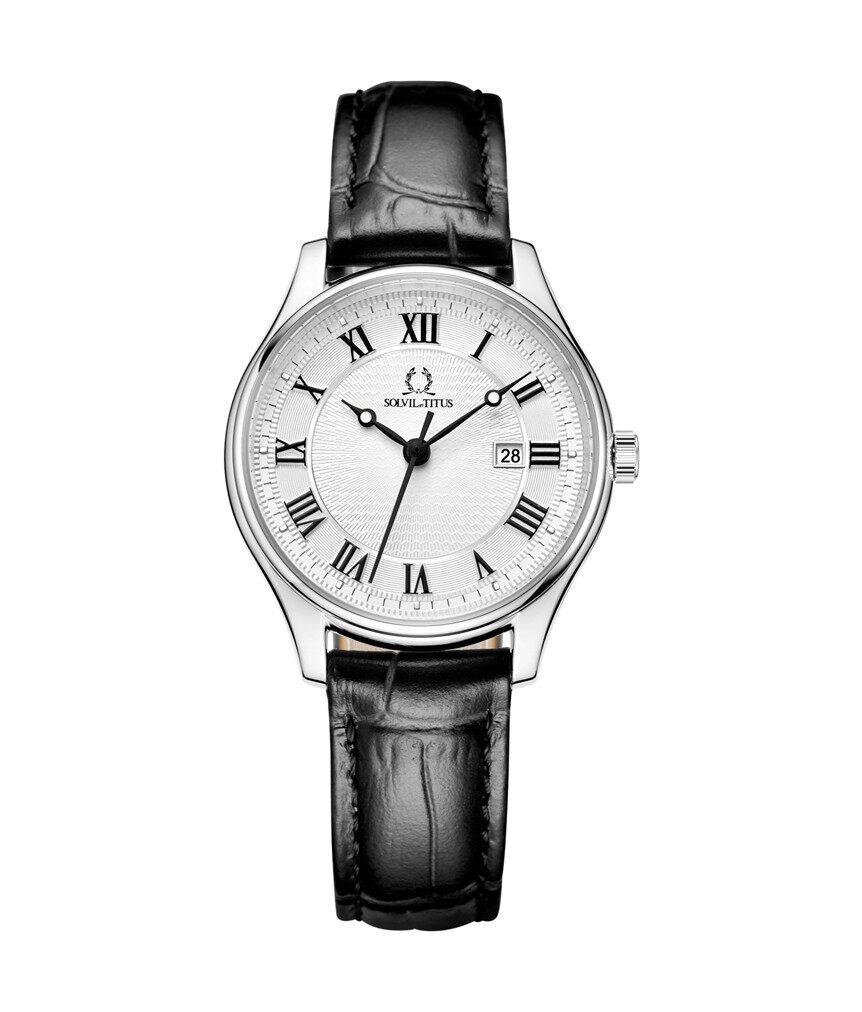 Solvil et Titus Womens Quartz Analogue Watch in White Dial and Leather Strap Malaysia