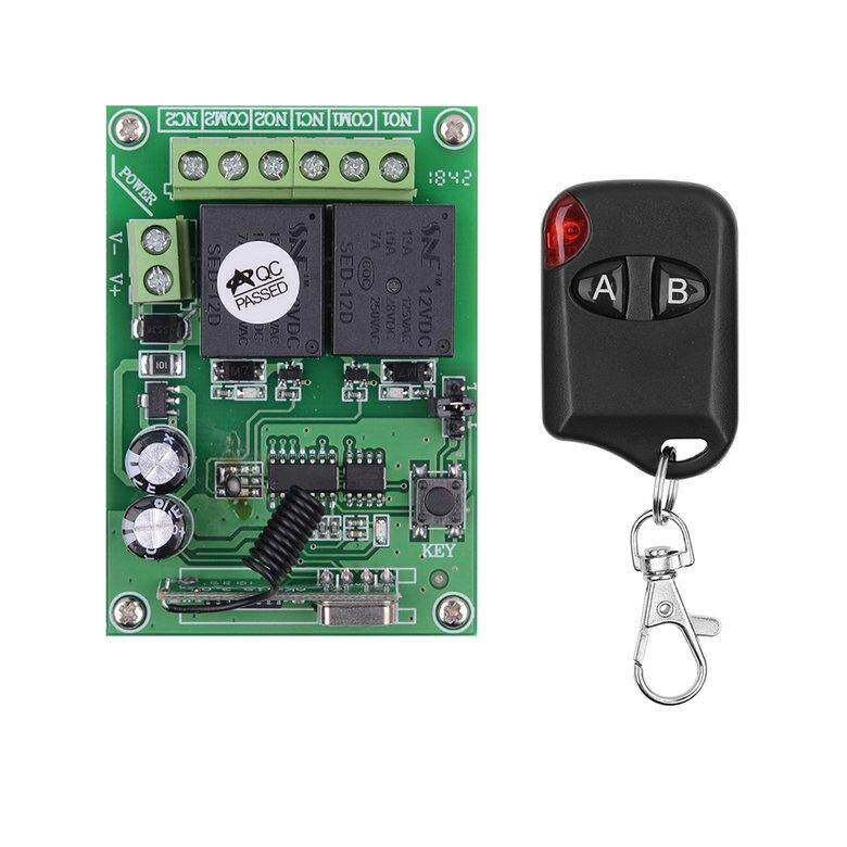 HORI Fyt224 Dc24v 2ch Way Relay Receiving Module + 4 Rf Remote Transmitter Control