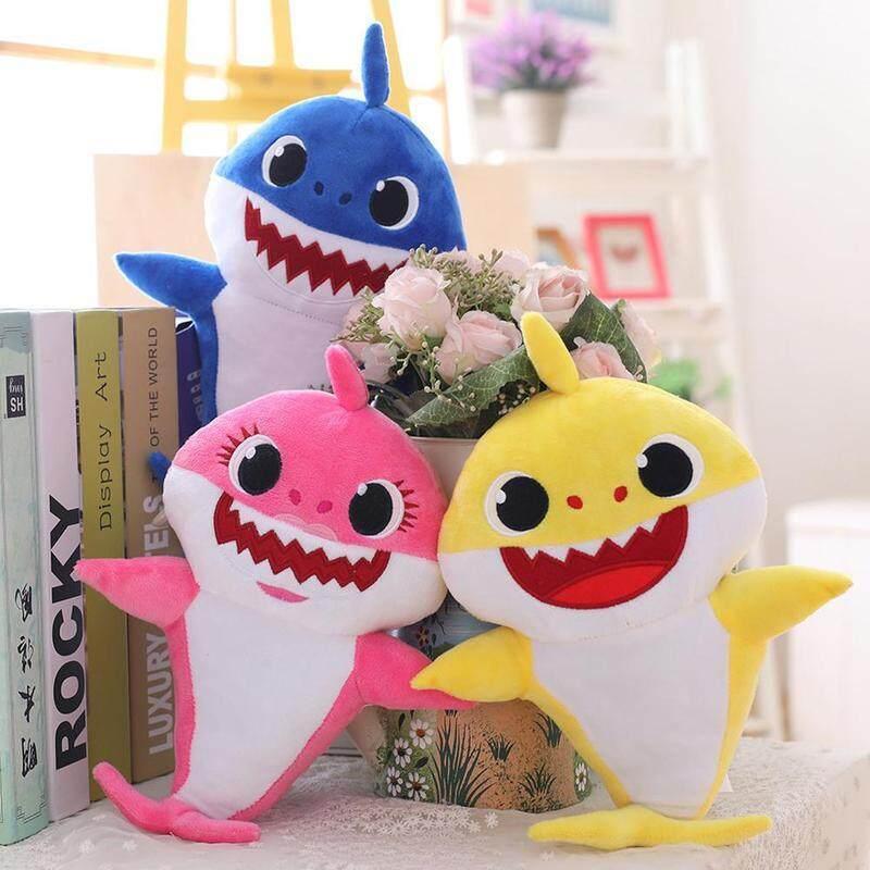 For Baby  kids Shark Plush Singing Plush Toys Music Doll English Song toy gift
