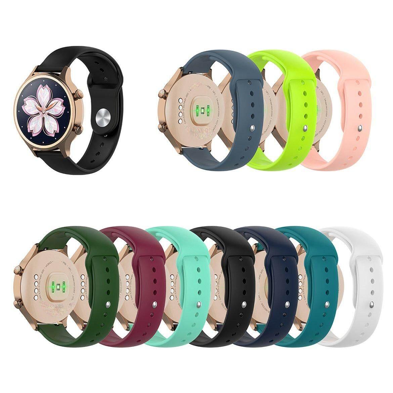 Giá Đầu Cốt 18mm Silicon Dây Đeo cho Ticwatch C2 Đồng Hồ Thông Minh Smartwatch Hoa Hồng Vàng Phiên Bản