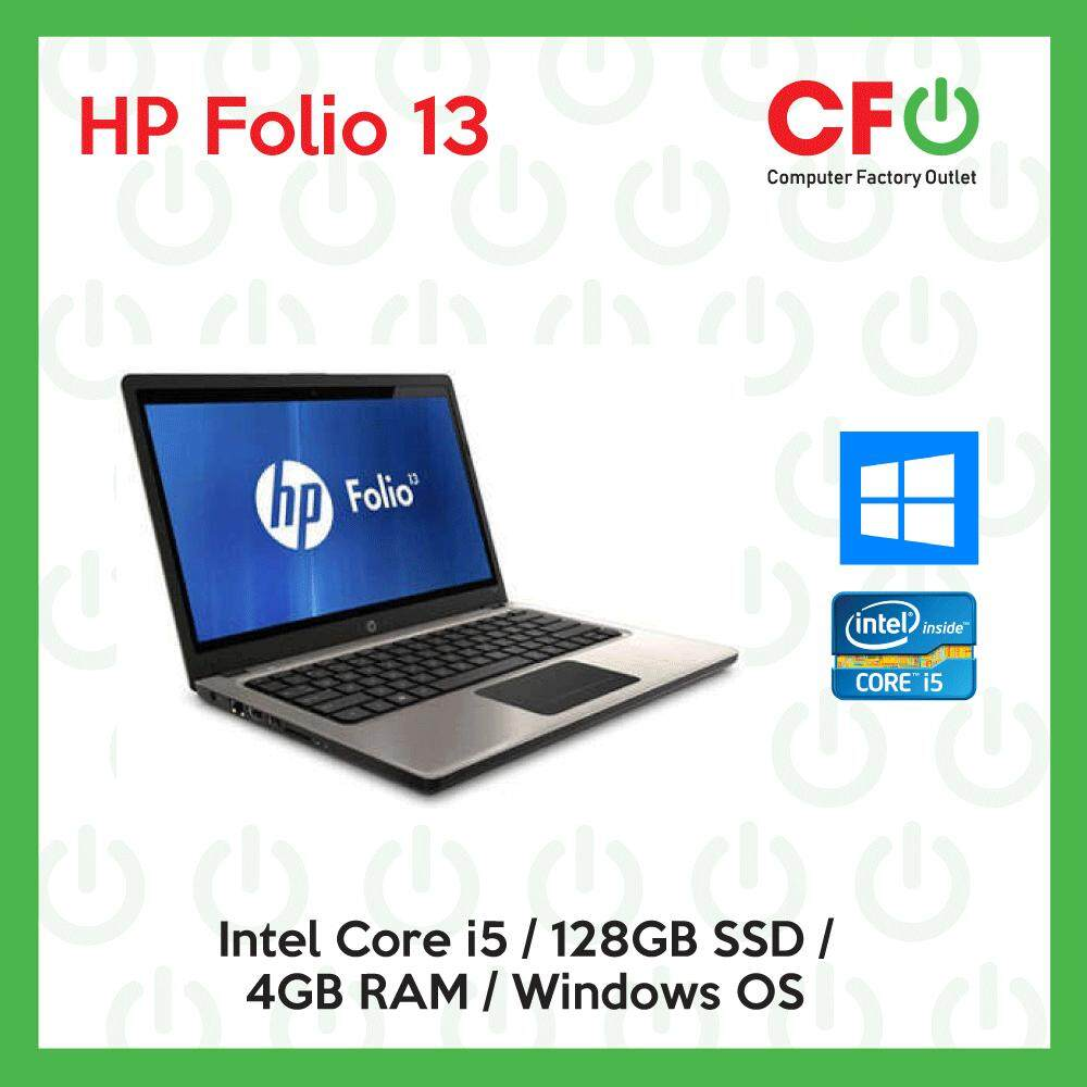 HP Folio 13  / Intel Core i5 / 4GB RAM / 128GB SSD / Windows OS Laptop / 1 Month Warranty (Factory Refurbished) Malaysia