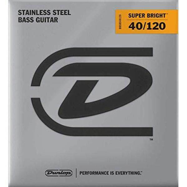 Jim Dunlop DBSBS40120 Super Bright Stainless Steel Bass Strings Light 40-120 for 5 Strings Malaysia