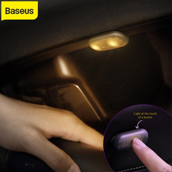 Baseus 2 Chiếc Đèn Pin LED Di Động Xe Mini Cảm Ứng Từ Nội Thất Đèn Tự Động Đèn Chiếu Sáng Kiểu Dáng Đèn Ngủ Đèn Trần-Màu Đen