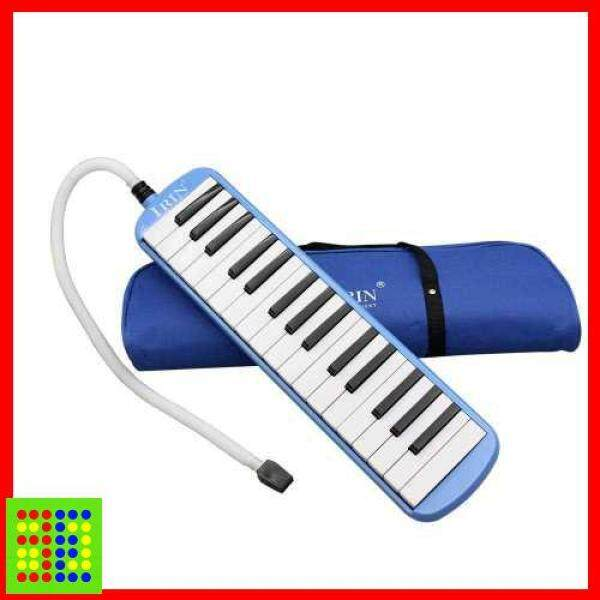 [HOT] 32 Piano Keys Melodica Musical Instrument for Music Lovers Beginners Gift with Carrying Bag (Blue) Malaysia
