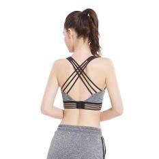 Phụ nữ Áo Tập Gym Thể Hình Áo Ngực Chéo Đẩy Lên Thể Thao Chống Sốc Top Quần Lót