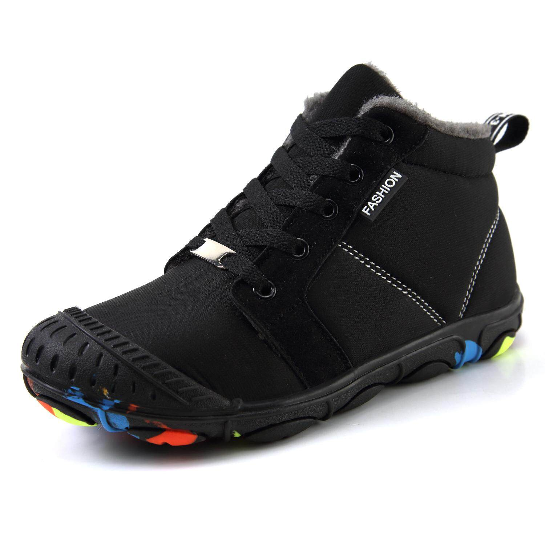 Winter Kids Cotton Shoes Girls Boys Warm Outdoor Snow Boots Plush Fashion Size