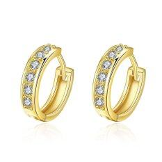 E040-A 18k Gold Plating Earrings Fashion High Quality Zircon Earrings By Xxiustore.