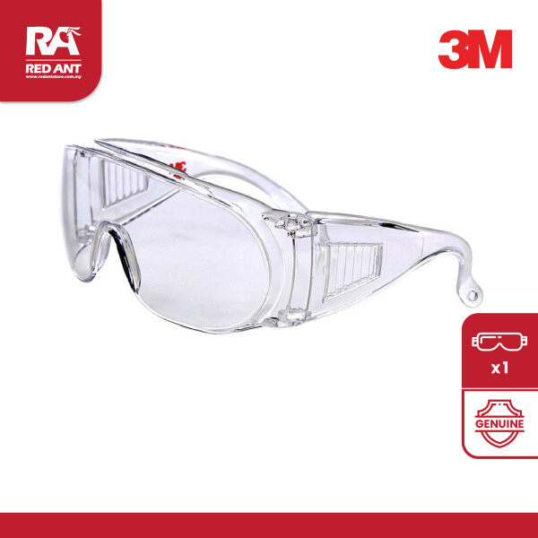 (1PC) 3M 1611 SAFETY EYEWEAR / SAFETY GLASSES / OVER SPECTACLE / VISITOR SPECS / CLEAR LENS