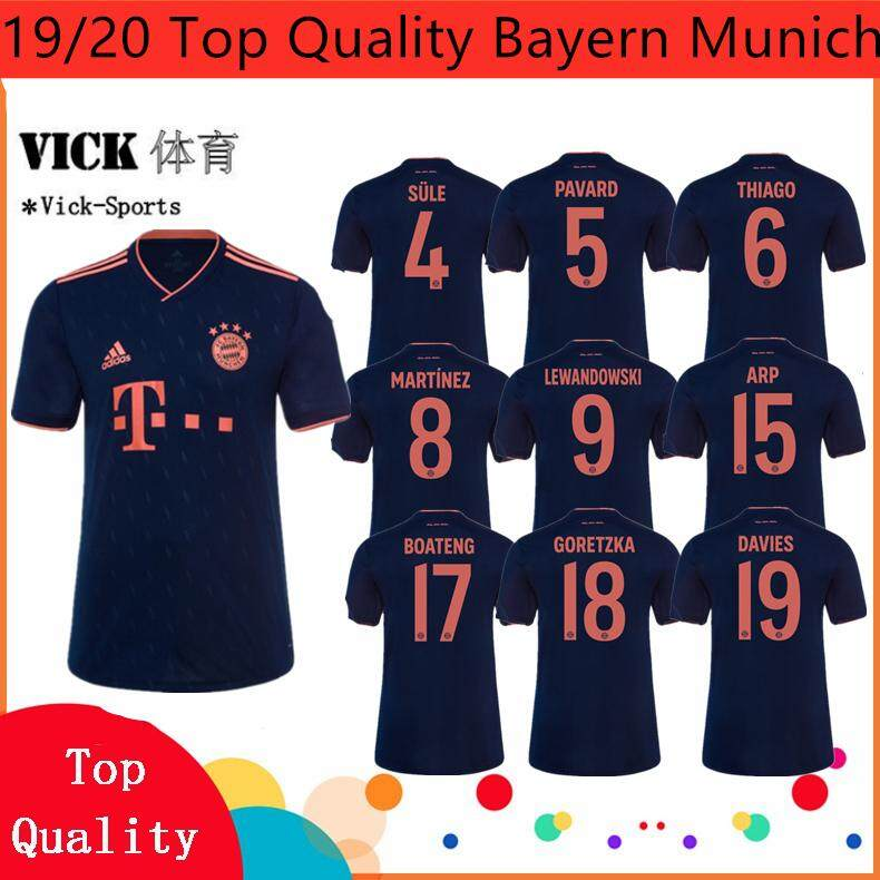 newest collection 1a5e4 421fe 19/20 Top Quality Newest Jersey Bayern Munich Sule Thiago Martinez  Lewandowski Home Away 3rd jersi Football Training shirt Wear For Men Adults  Gred ...