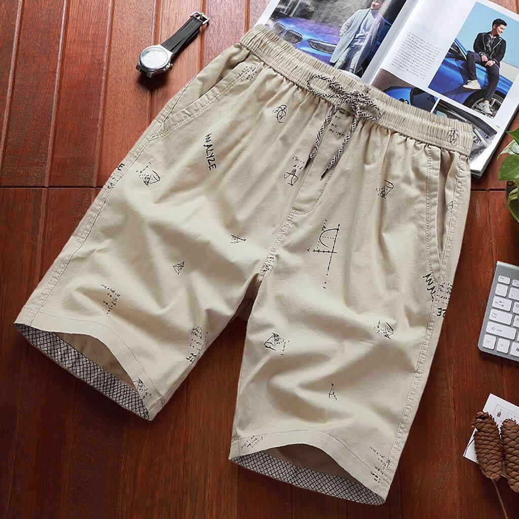 Suolede ผู้ชายแฟชั่นฤดูร้อนพิมพ์ Casual หลวมเข็มขัดกางเกงขาสั้นมีเชือกผูกชายหาดกางเกงกางเกงขาสั้นผู้ชายกางเกงขาสั้นกางเกงผู้ชายชุดออกกำลังกายเกาหลีชุดว่ายน้ำมีสไตล์ผู้ชายs เสื้อผ้าแฟชั่นกางเกงออกกำลังกายกางเกงว่ายน้ำหล่อวัสดุที่มีคุณภาพสูงออกแบบแฟขั่น By Suolede.