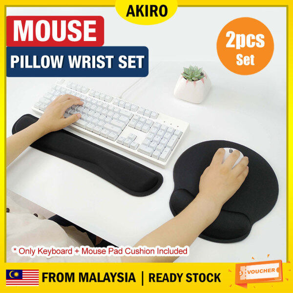 AKIRO Malaysia Ergonomic Support Memory Foam Comfortable Cushion Keyboard Wrist Full Mouse Pad Prevent Carpal Tunnel for Computer & Laptop Rest Pad Set Malaysia