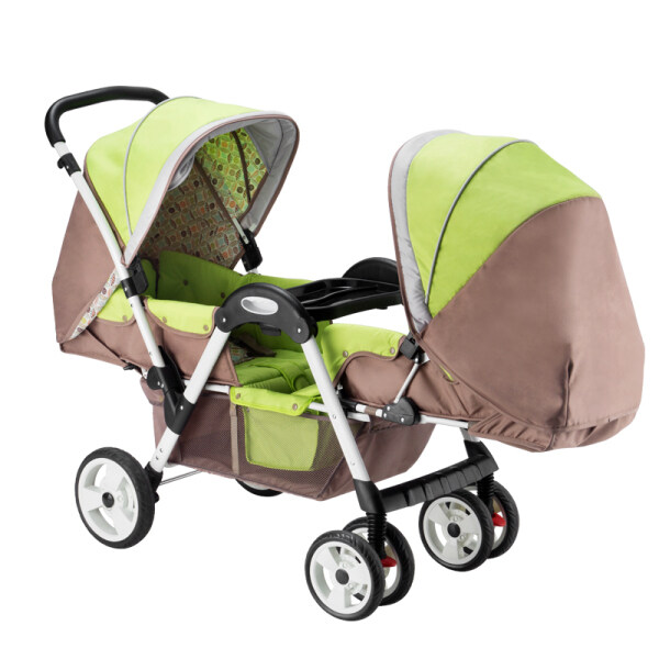 【Free shipping】Baby twin strollers foldable face-to-face baby strollers + +Free Gift Singapore