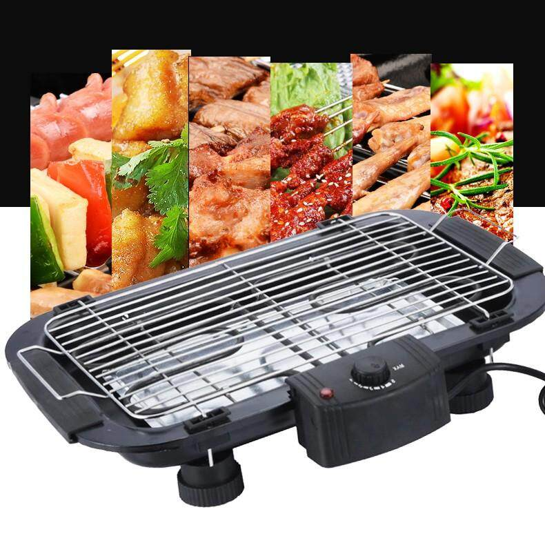 2 In 1 Multifunction Korean Bbq Electronic Barbecue Grill Teppanyaki Smoke Barbecue & Steamboat Hot Pot Shabu Roast Fry Pan Cookware By Fly Automart.