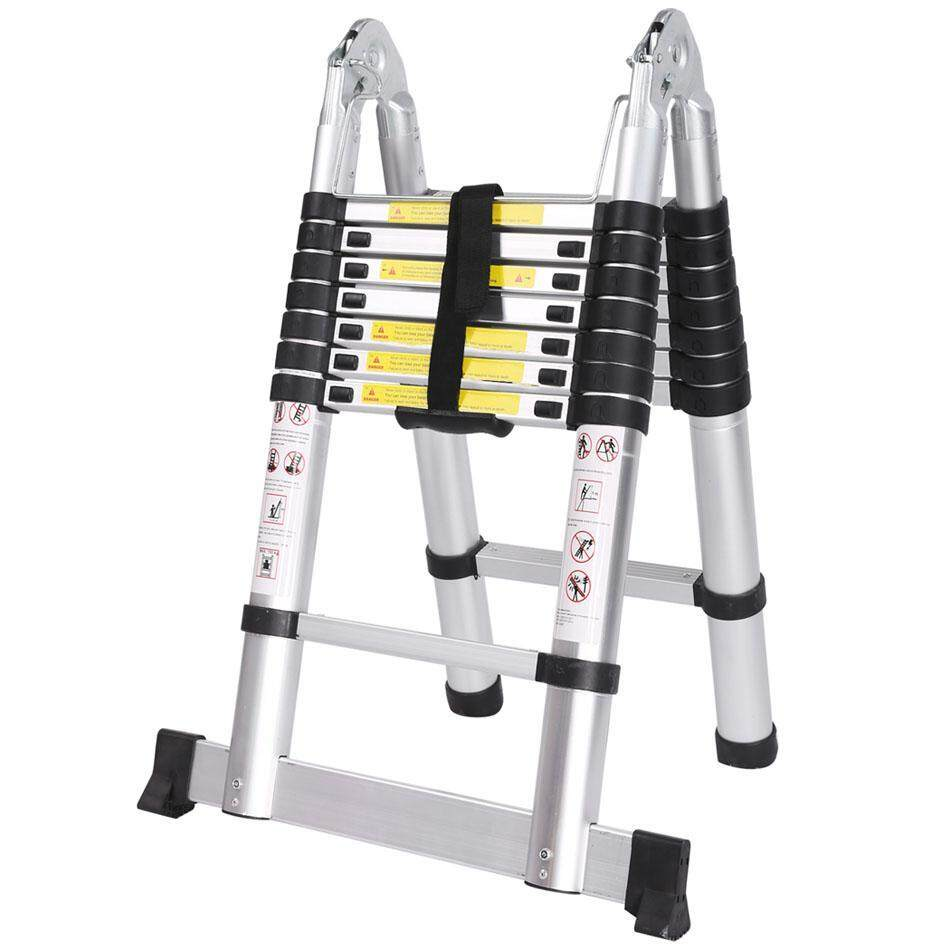 Ladder 2.5m ladder retractable folding aluminum herringbone ladder Telescopic Extension Tall Multi Purpose telescopic ladder step