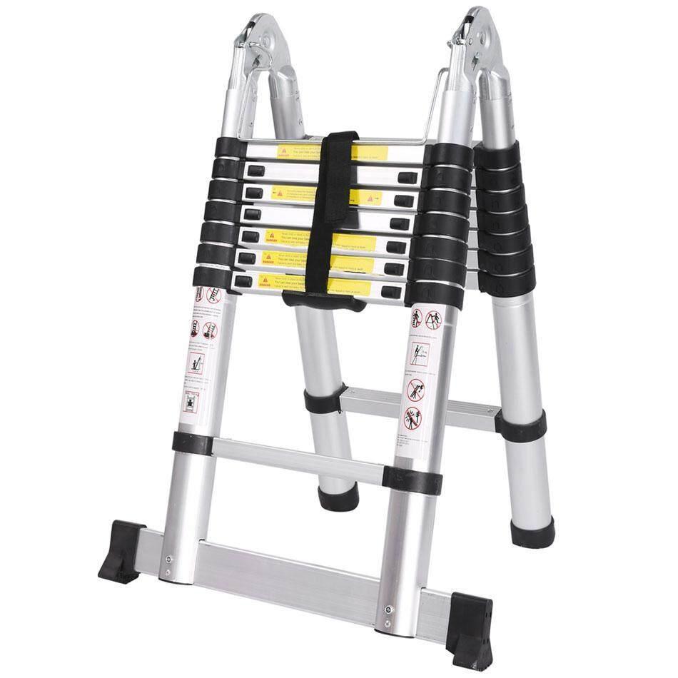 Ladder 2.5m ladder retractable folding aluminum herringbone ladder Telescopic Extension Tall Multi Purpose telescopic ladder step