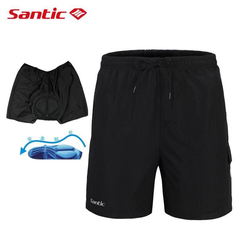 8236988ec Santic Casual Men s Cycling Shorts Summer Breathable MTB Bike Bicycle  Underpants Downhill Riding Short Pants 4D