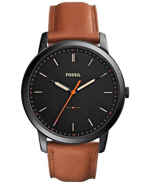 Authentic Fossil Men Minimalist Black Dial Brown Leather Watch FS5305 Jam Tangan Lelaki Malaysia