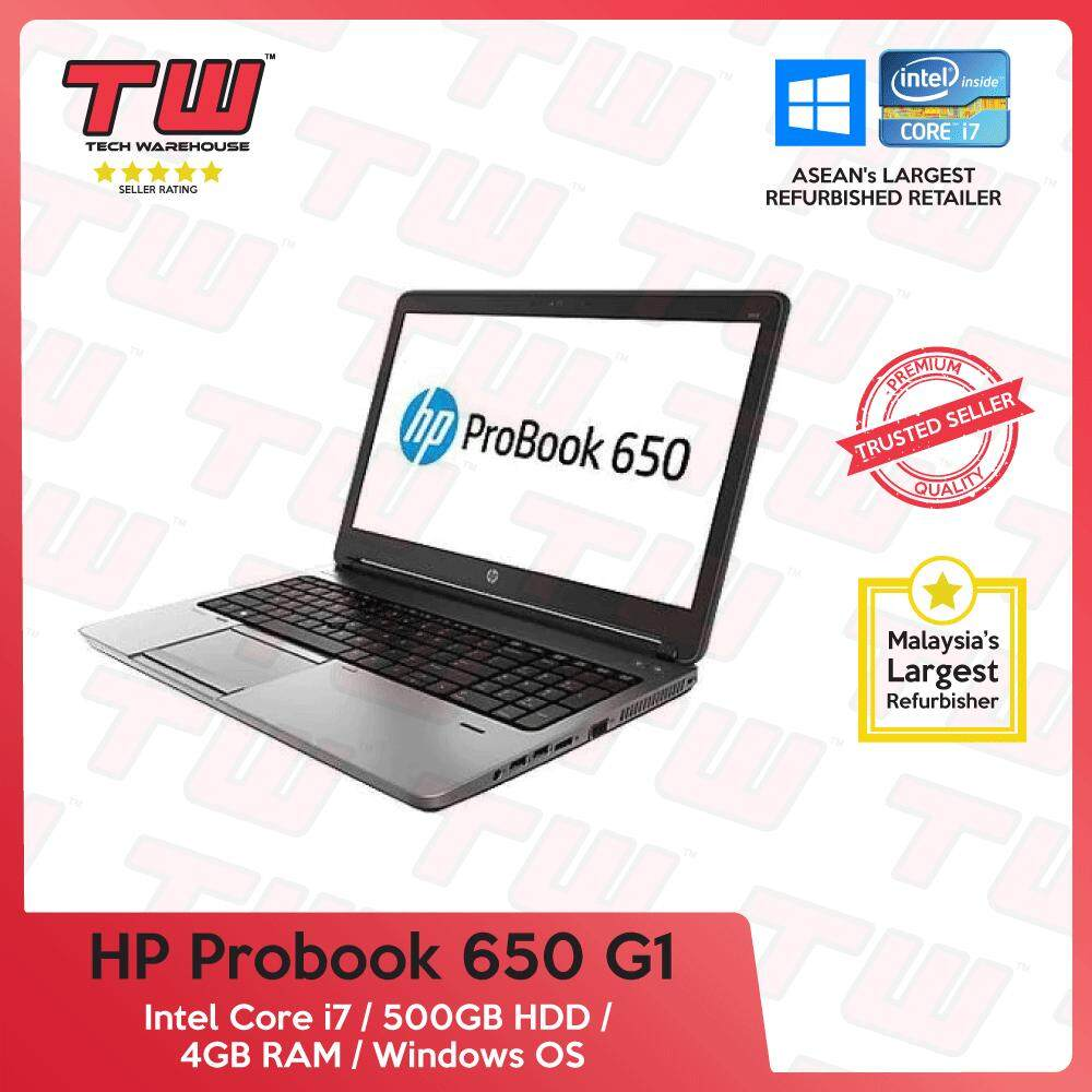 HP Probook 650 G1 Core i7 GEN 4 / 4GB RAM / 500GB HDD / Windows OS Laptop / 3 Months Warranty (Factory Refurbished) Malaysia