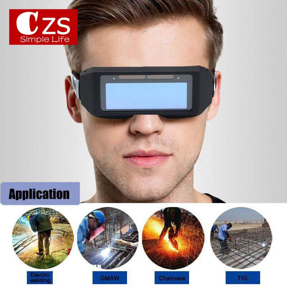 CZS Large Screen Welding Tools Eyes Protection Welding Goggles Glasses Helmet Protective Mask Solar Powered Automatic Change Photoelectric Welding Eyewear