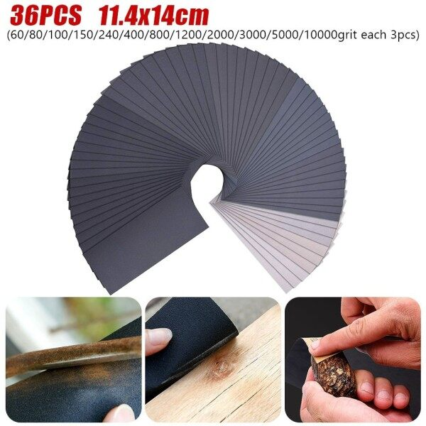 36pcs Sandpaper 60To10000# ,For Automotive Dry/wet Finishing Furniture