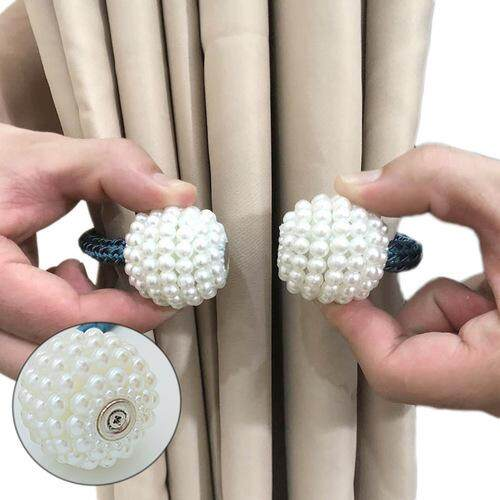 [10.10 MEGA SALES] Local Ready Stock 1 Pcs Magnet Curtains Buckle Curtains Tieback Magnetic Curtain Rings & Buckles Home Living Room-free Installation Tie Back