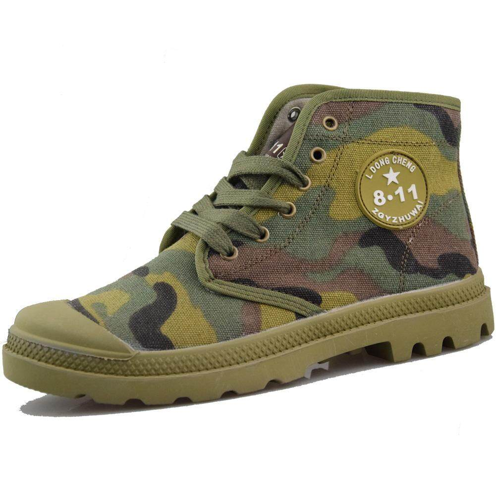 de7d502437842 Canvas Shoes man Camouflage Martin Boots Work Shoes Combat Boots Sneakers  Hiking Shoes Army Male Combat