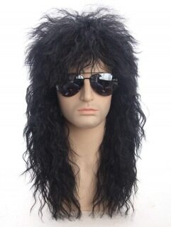Tóc giả namHot Selling European and American Men s Fake Hair 80S Punk Heavy Metal Long Curly Hair Halloween Wigtóc giả thumbnail