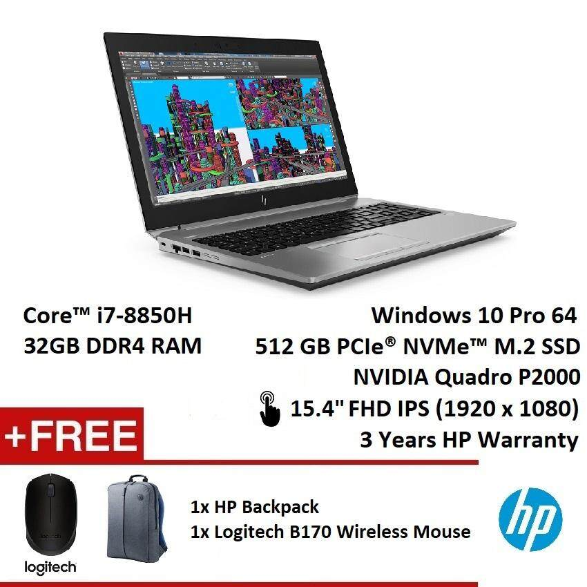 HP ZBook 15 G5 Mobile Workstation (i7-8850H, 512GB SSD, 32GB, Nvidia Quadro P2000,15.6  Touch FHD IPS, W10P, 3YR) [DEMO SET 99% NEW] Malaysia