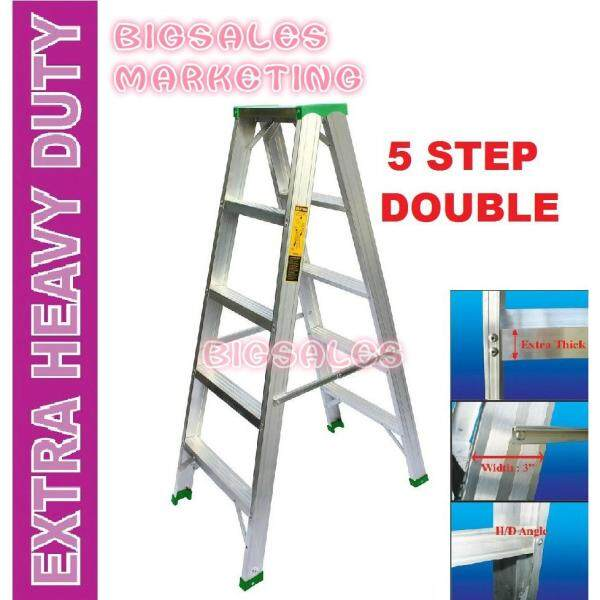 5 Steps BIGSALES Aluminium Double Sided Ladder / Tangga 5 Steps