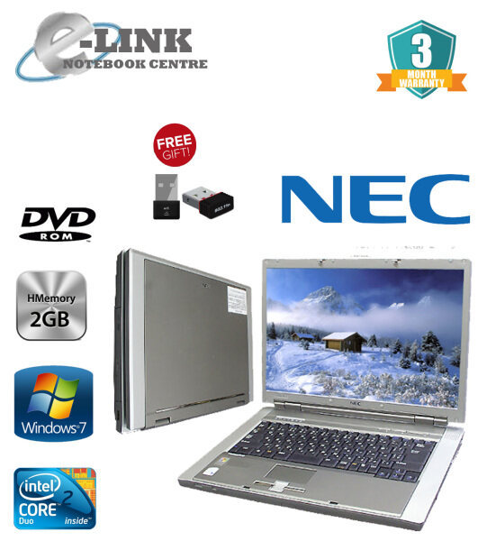 (REFURBISHED) NEC VY20A/ED-4 LAPTOP / CORE 2 DUO / 2GB RAM / 160GB HDD / WINDOW 7 PRO Malaysia