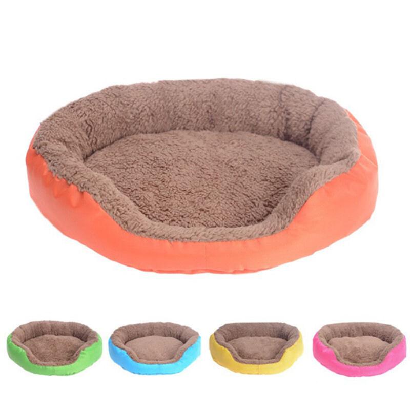 Huanhuang®Mùa Đông Lông Cừu Mềm Ấm Chó Con Thú Cưng Chó Mèo Giường Lớn Giỏ Nhà Thảm Tổ Chim