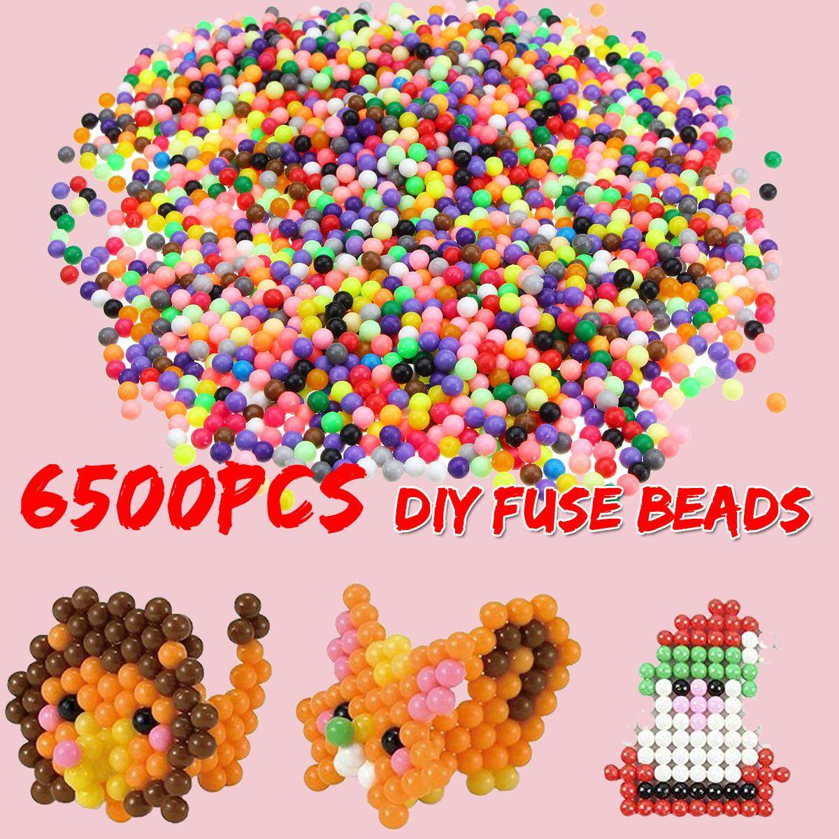 6500pcs 30 Color Aqua Refill Water Fuse Jigsaw Beads Art Diy Craft Toys Kid Gift By Freebang.