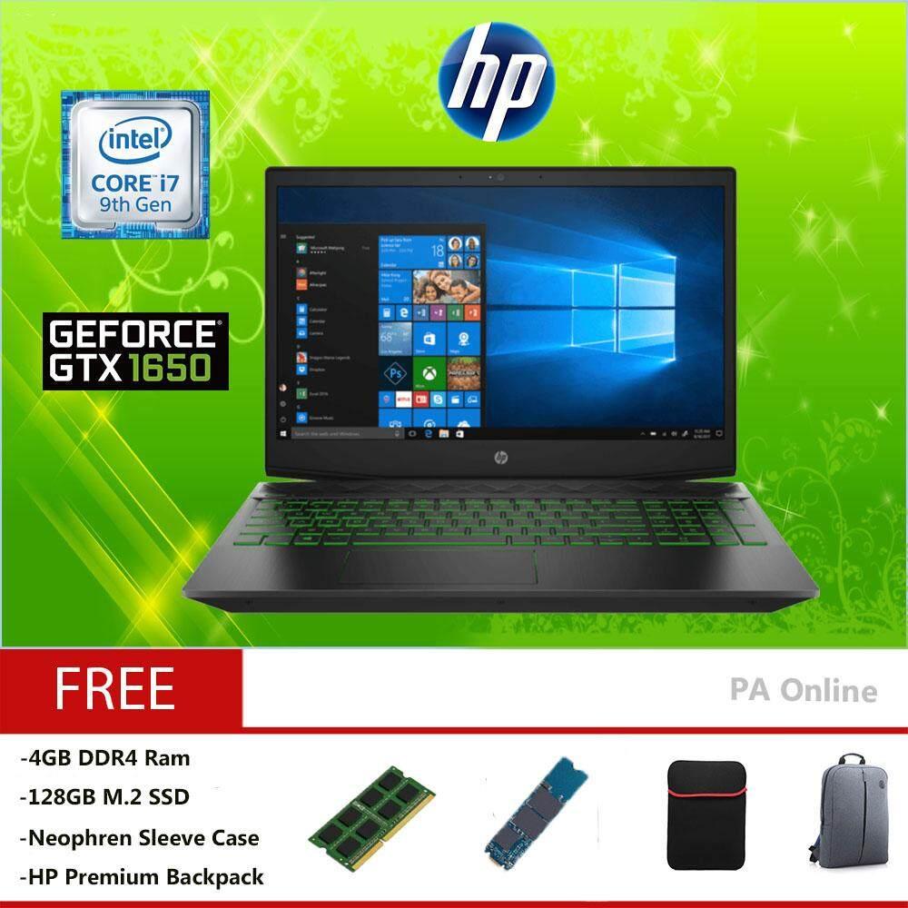 HP Pavilion Gaming 15-dk0011tx -128GB SSD -Intel Core i7-9750H /12GB /128GB + 1TB /4GB NVIDIA GeForce GTX 1650 /15.6 FHD IPS /WIN 10 Malaysia