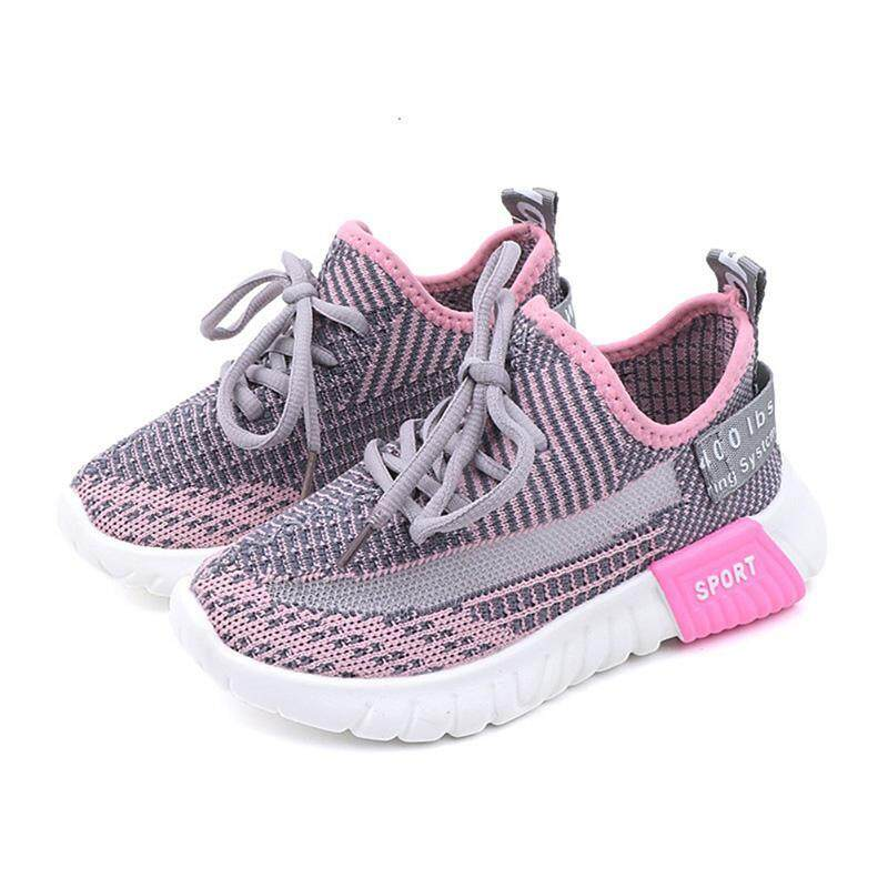 a3c17f25f6dd2 Baby Girls Spring Boys Soft Breathable Non-slip Bottom Walking Casual Mesh  Breathable Shoes