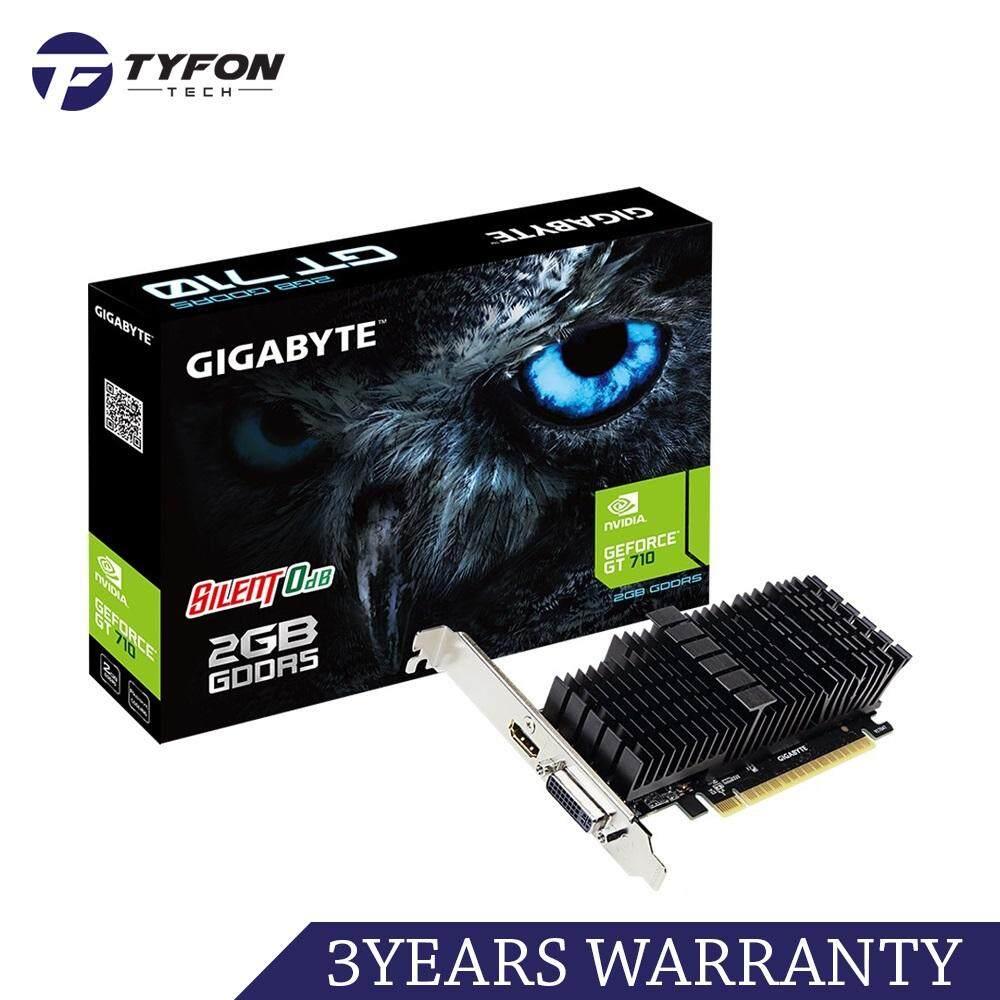 GIGABYTE GV-N710D5SL-2GL NVIDIA GeForce GT710 2GB GDDR5 64-bit Graphic Card (Low Profile)