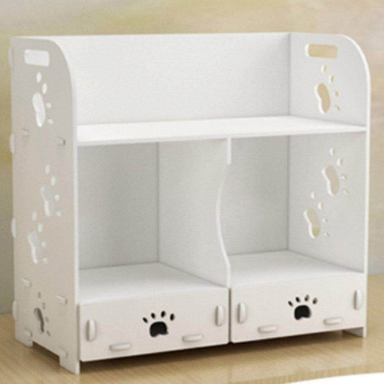 Hot Deals Cosmetic Dressing Table Simple Wooden Makeup Storage Box Multi-layer Drawer