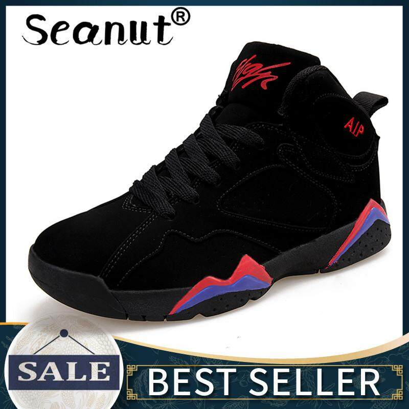 Seanut High-top Basketball Shoes Men Cushioning Breathable Basketball Sneakers Anti-skid Athletic Outdoor