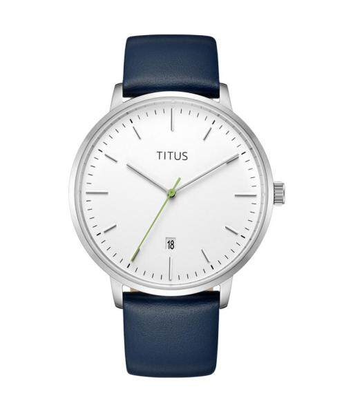 Solvil et Titus W06-03100-004 Unisexs Quartz Analogue Watch in Blue Dial and Leather Strap Malaysia
