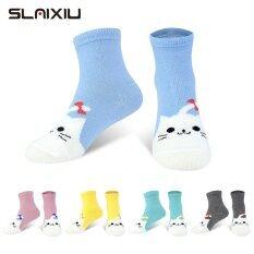 SLAIXIU 5-Pack Phim Hoạt Hình Động Vật Chàng Trai Cô Gái Vớ Cotton Mềm Cho Trẻ Em 1-10 Tuổi Vớ Trẻ Em Thở Vớ C823