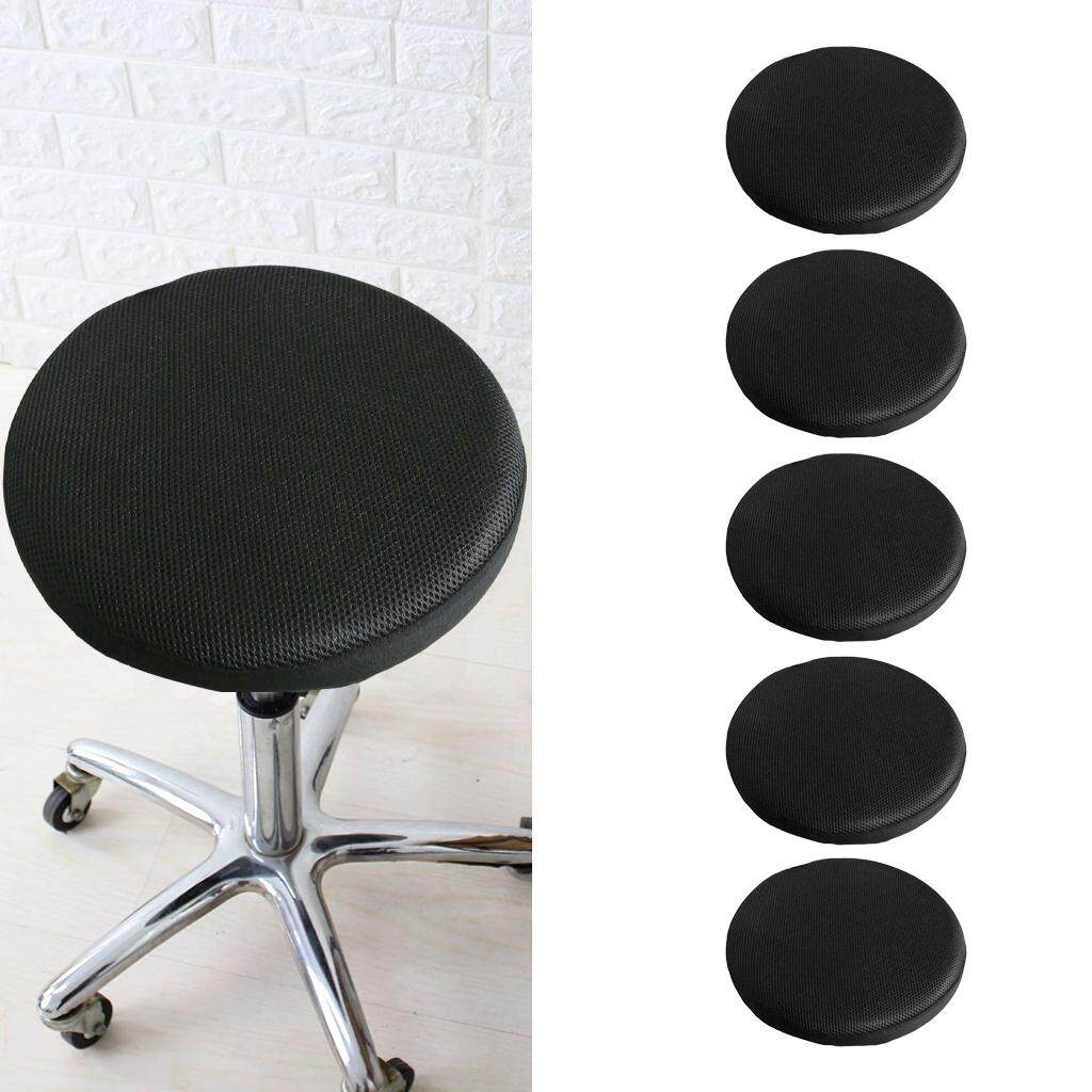Fityle 5pcs 16 inch Stretch Round Bar Stool Cover Chair Cushion Seat Pad Sleeve