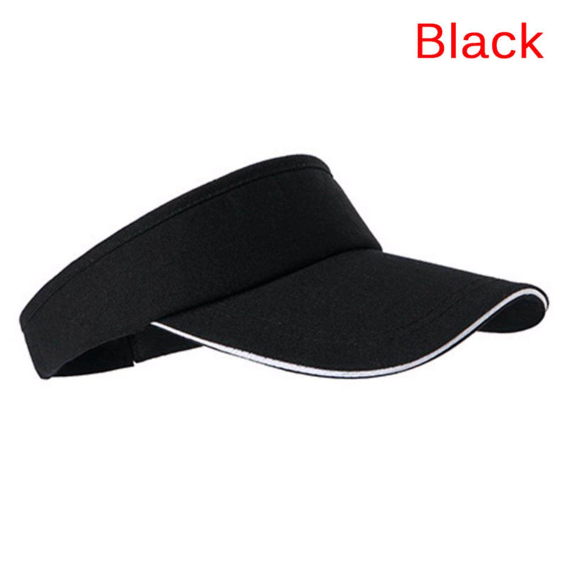 Adjustable Unisex Men Women Plain Sun Visor Sport Golf Tennis Breathable Cap  Hat 626418aa76c9