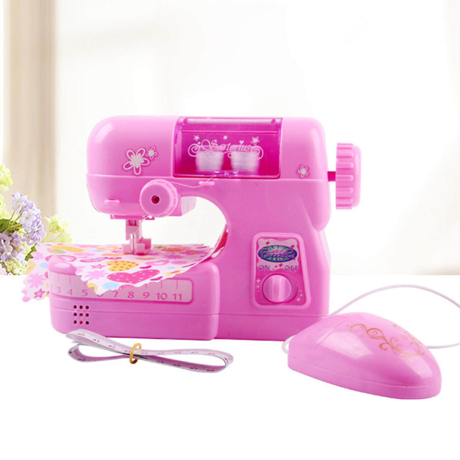 88522224350ee Mini Electric Sewing Machine Pretend Play Educational Toy for Kids Children  Girls Birthday Christmas Gift