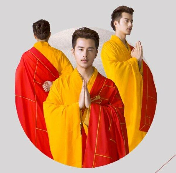 Linen Phật Giáo Nhà Sư Áo Choàng, Thiếu Lâm Người Đàn Ông Áo Choàng, Quần Áo Vớ Nhà Sư Phật Giáo Chất Lượng Cao Trang Phục Abbot Bonze Tang