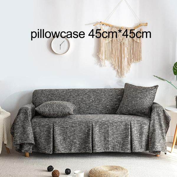[comebuy88]Sofa Cover Cotton Linen Sofa Towel Slipcover for Living Room Couch Cover Funda Sofa Protector 1/2/3/4 Seater