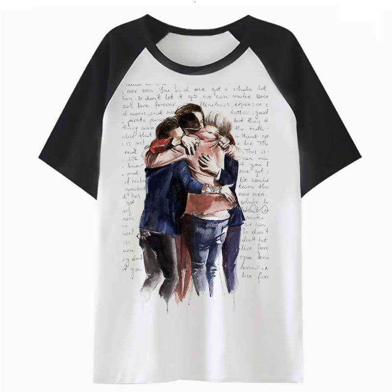 c21a0bbe430f77 One direction t shirt female tshirt graphic streetwear white t-shirt  harajuku tees women korean