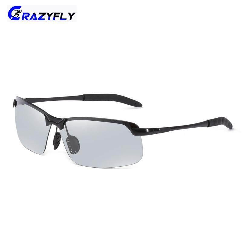 Terpolarisasi Semi-Kacamata Surya Tanpa Bingkai Sopir Kaca Mata Pengendara Perubahan Bunglon Kacamata Warna