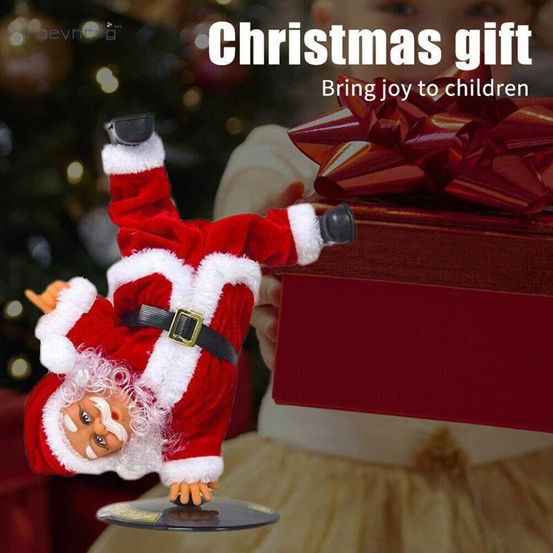 Mã Giảm Giá Rae Điện Âm Nhạc Ông Già Noel Giáng Sinh Ngược Vũ Búp Bê Trang Trí Đồ Chơi Quà Tặng Trang Trí Santa Búp Bê