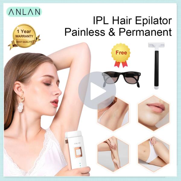 ANLAN IPL Laser Tóc Vĩnh Viễn Body Hair Remover Không Đau Laser Hair Remover 1 Năm Bảo Hành cao cấp